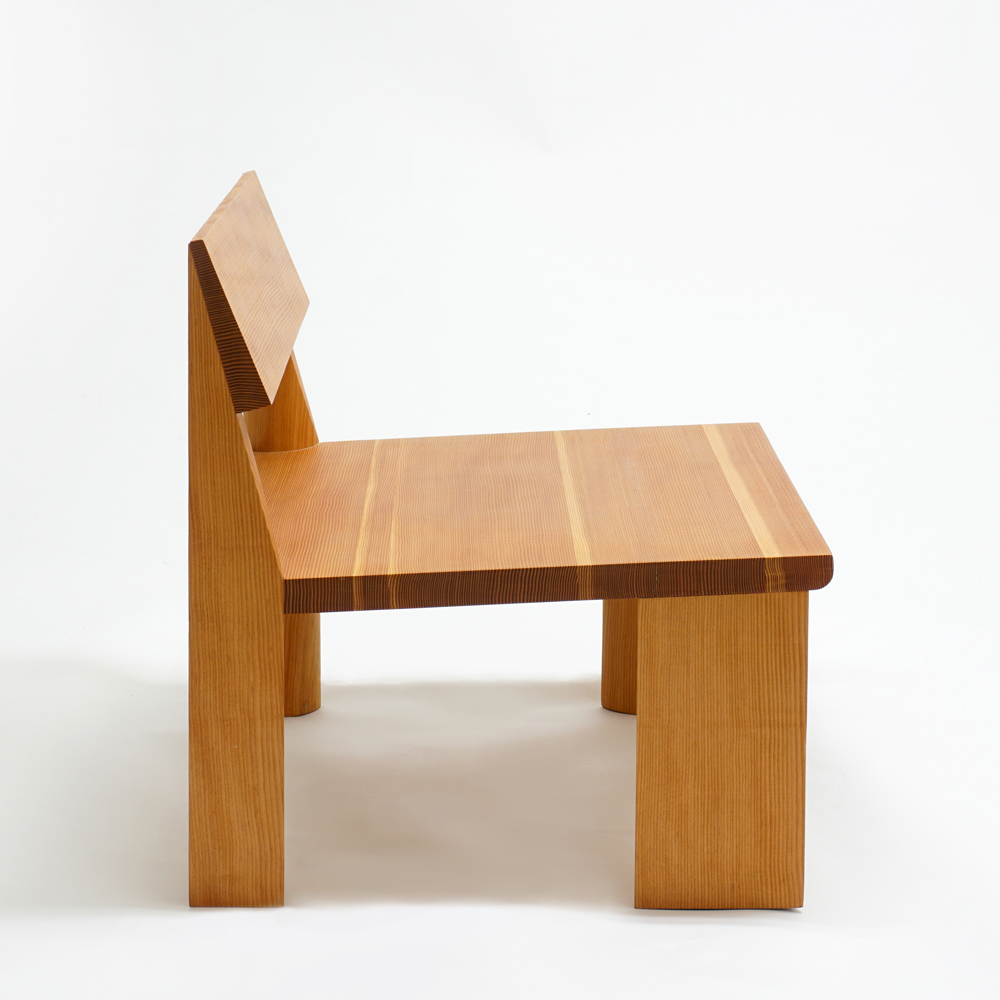 Lovely Maniera 07: LWC   Low Wooden Chair